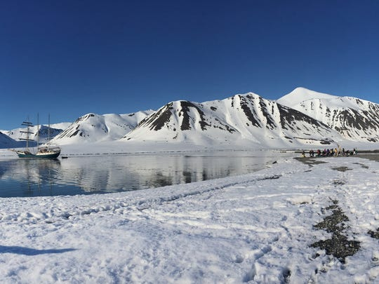Megan Berner, a UNR photography professor, spent a three-week artist residency in the Svalbard archipelago in the Arctic Circle, a scene of which is pictured here.
