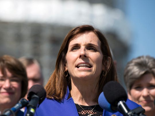 In this March 16, 2016, file photo, Rep. Martha McSally,