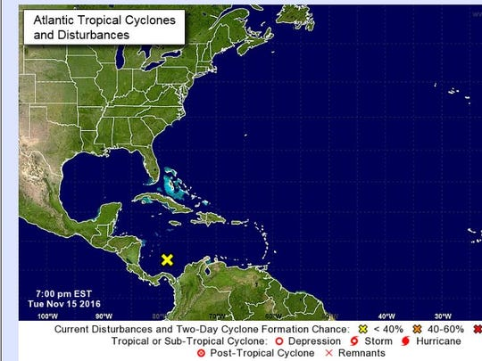 A system in the Caribbean Sea is being monitored Tuesday.