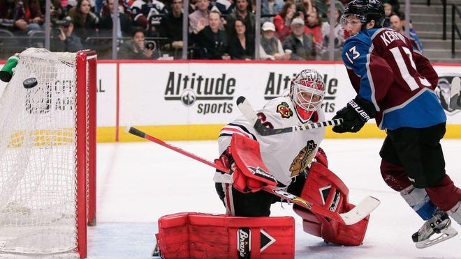 Rockford IceHogs goalie Collin Delia is getting his shot with the Chicago Blackhawks, who have been without usual starter Corey Crawford so far during training camp.