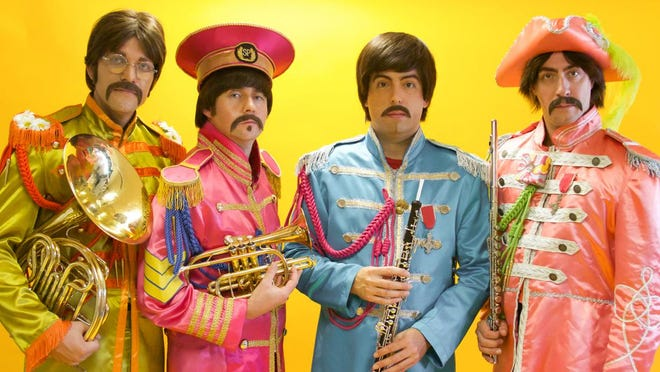 Members of Beatles tribute band Abbey Road are Nate Bott, from left, Axel Clarke, Chris Paul Overall and Jesse Wilder.