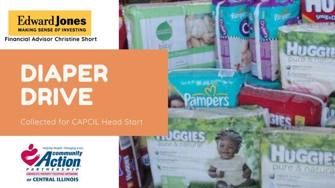 Diapers can be dropped off at  Short's office,515 Broadway St. in Lincoln during regular business hours through Nov. 30.