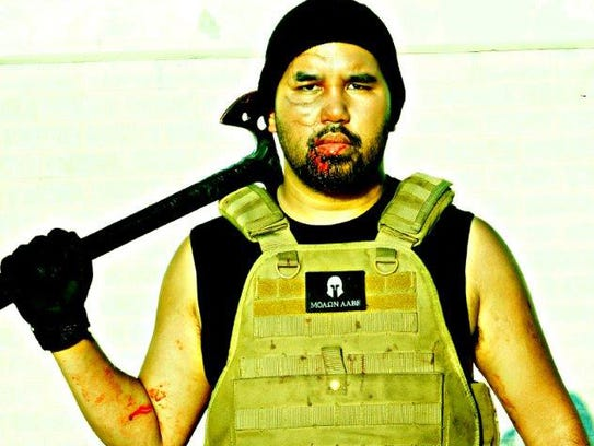 Stunt creator and martial artist Jyo Carolino — seen
