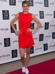 """Shailene Woodley arrives for the May 9 fan event for """"The Fault in Our Stars"""" in Dallas."""