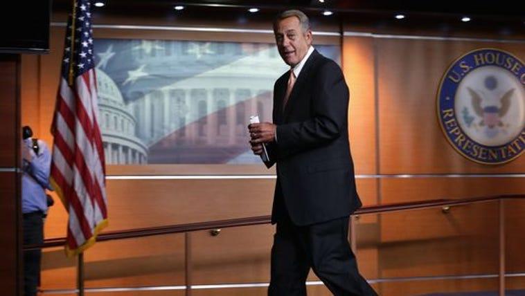 House Speaker John Boehner, R-Ohio, leaves his weekly