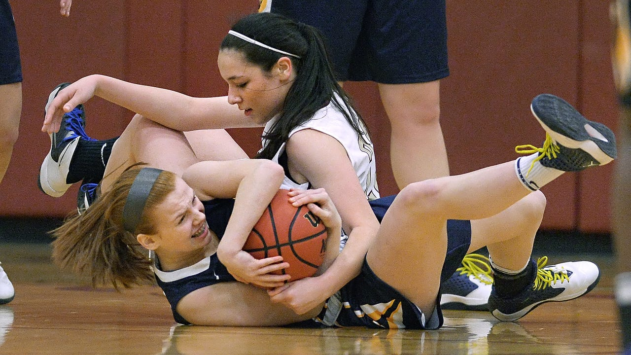 Pittsford Mendon defeated Brighton 54-38 to win the Monroe County East Division II regular season title. Video by James Johnson.