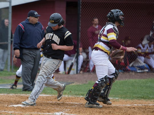 Point Pleasant Boro's Mike Falconetti crosses home