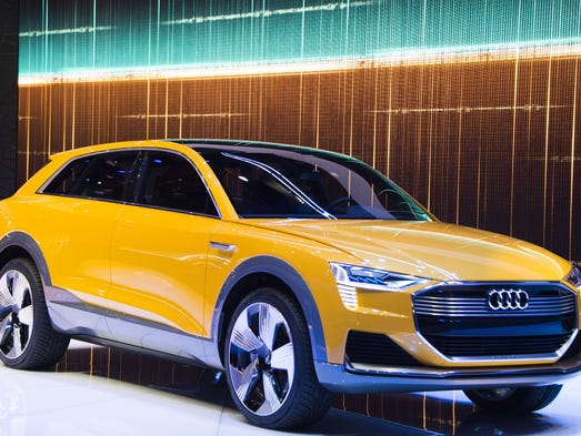 The Audi h-tron quattro concept is unveiled during