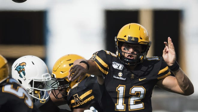 Appalachian State senior quarterback Zac Thomas is the Sun Belt's preseason offensive player of the year.