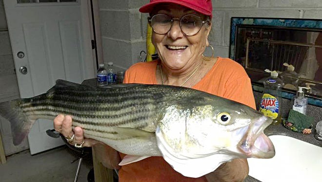 Jackie B. was able to pick off a striper in the Brigantine waters.