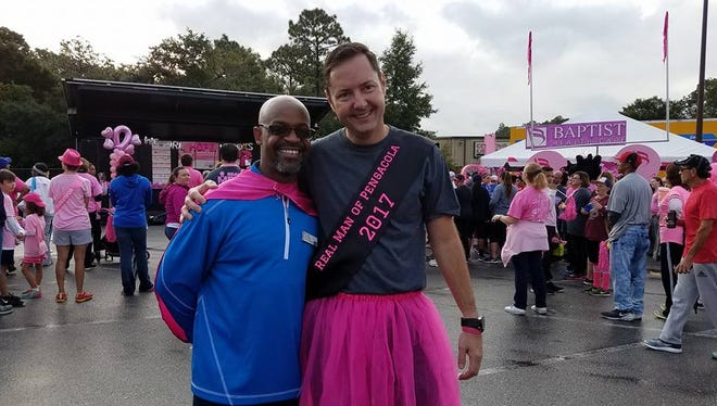 For the second year in a row, Pensacola's Real Men Wear Pink campaign led the state in fundraising for the American Cancer Society. This year's effort raised more than $110,000.