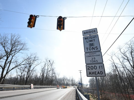 """A posted weight restriction is often a step taken when a bridge, like the Rt. 194 bridge over Bermudian Creek in Washington Township, York County, has been classified as """"structurally deficient."""""""