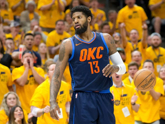 NBA: Playoffs-Oklahoma City Thunder at Utah Jazz