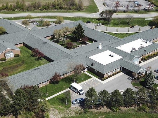 Laurels of Gahanna, shown here in an aerial photo taken last month, was among the long-term-care facilities in Franklin County that had reported an increase in coronavirus cases by the end of April.