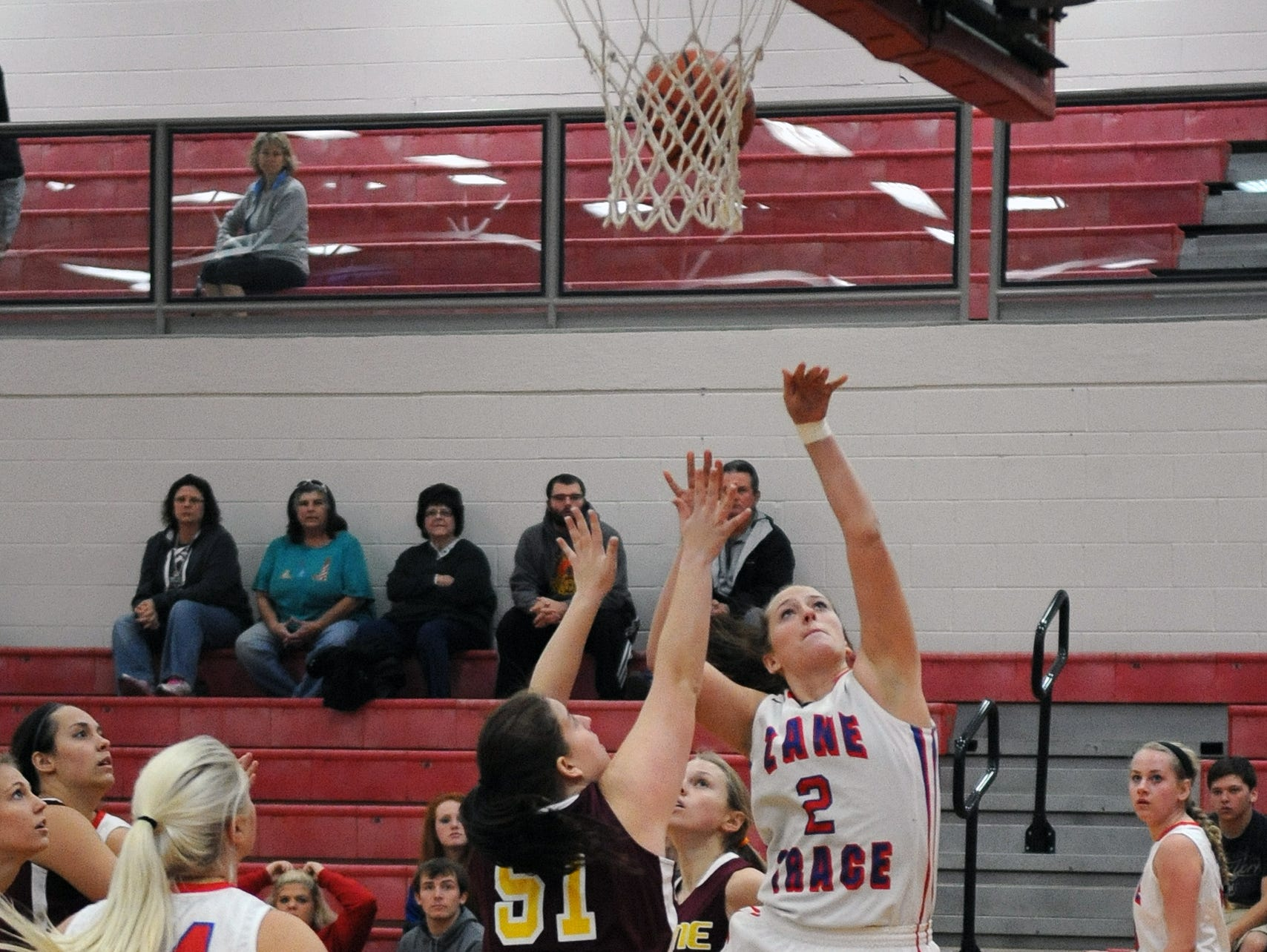 Zane Trace's Kaitlyn Unger takes a shot against Berne Union Friday at Zane Trace High School.