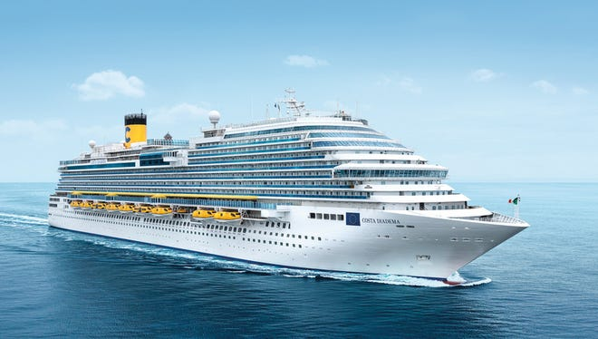 Christened on Nov. 7, 2014, the Costa Diadema is the largest ship ever built for Italian line Costa Cruises.