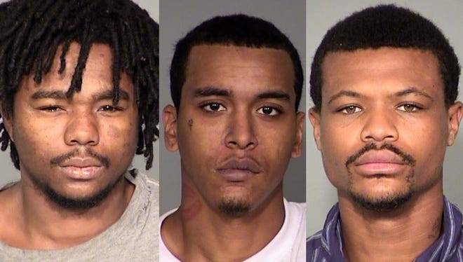 From left: Michael Pugh, Demetre Brown and Alexander Dupree are serving lengthy prison sentences for a violent home invasion in 2013 on the city's north side.