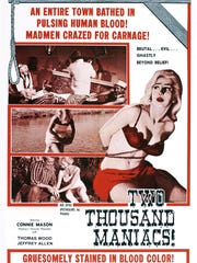 """It's bloodthirsty Confederates vs. clueless Yankees in Herschell Gordon Lewis' """"Two Thousand Maniacs!"""""""