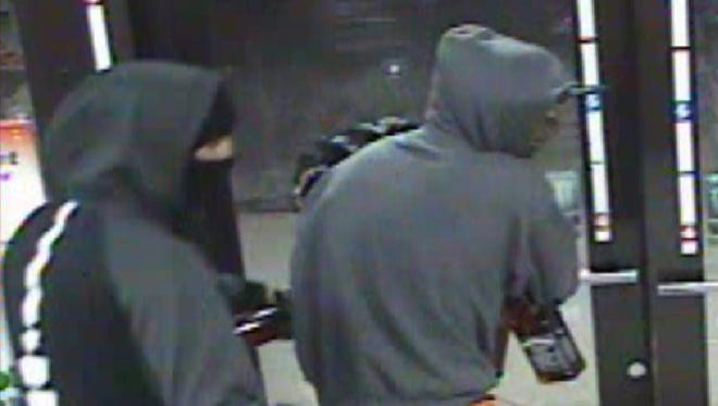 The Washoe County Sheriff's Office is asking for the public's help identifying two suspects allegedly involved in an armed robbery in Sun Valley on Wednesday, Oct. 25, 2017.