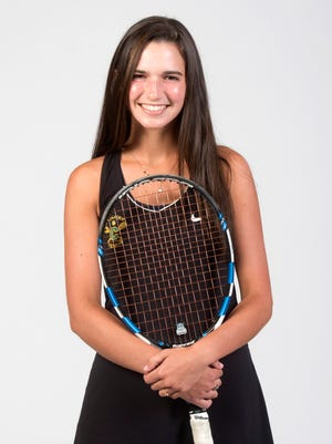 Catholic High School's Lizzy Nowak is the 2018 All-Area Girls tennis player.