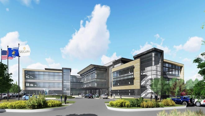 Secura Insurance plans to build a $90 million headquarters campus in the Fox Valley.