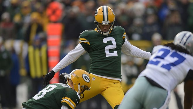 Green Bay Packers kicker Mason Crosby.