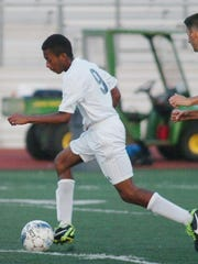 Senior Brandon Brown's goal gave the Falcons a 2-0