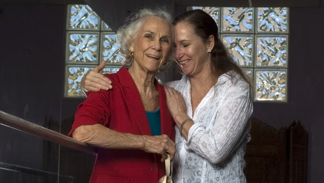MARC BEAUDIN/The News-Press.... Jeanne Bochette, left and daughter Alyce Bochette at their dance studio in Fort Myers. The pair was photographed in 2008.