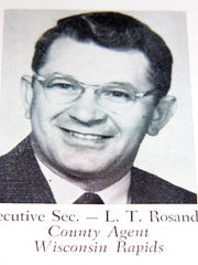 "Louis Rosandick, who prefers ""Louie,"" served as executive secretary of the 1960 Wisconsin Farm Progress Days in Marshfield, Wisconsin. He was the Wood County Extension agricultural agent."