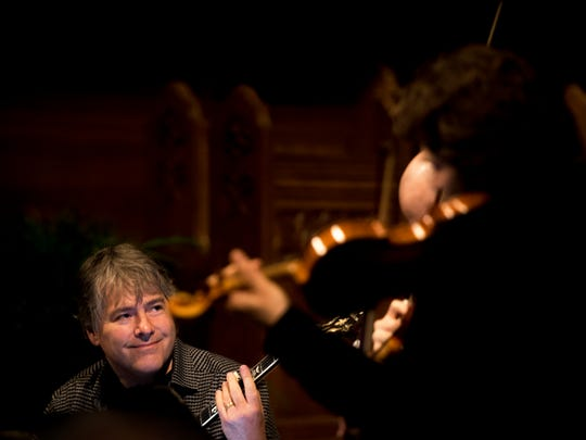Bela Fleck & Brooklyn Rider perform at Church Street United Methodist Church as part of Big Ears Festival in downtown Knoxville on Friday, March 23, 2018.