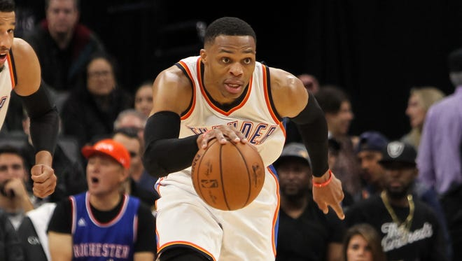 Russell Westbrook always plays at the highest of speeds.