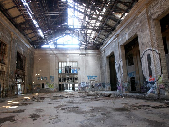 Interior of the Michigan Central Train Depot in Detroit