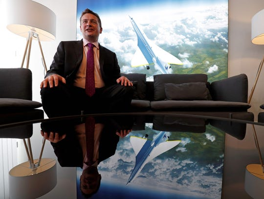 Boom Supersonic co-founder, Blake Scholl, poses for