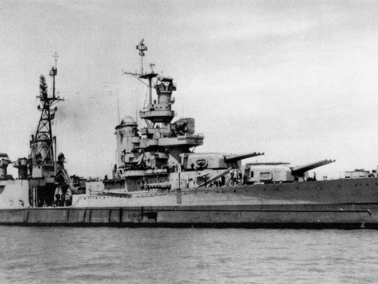 The last picture of the USS Indianapolis (CA-35) taken