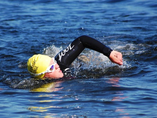 Competing in an open water sprint triathlon earlier this year helped my confidence, but not enough to drown out my doubts.