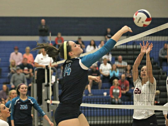 Siegel's Mallory Black hits during Thursday's Class