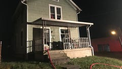 Grant Street fire displaces two
