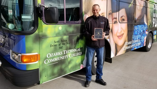 Scott Fulton has been selected as the 2017 Driver of the Year by City Utilities.