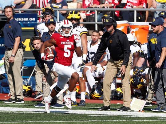 Indiana receiver J-Shun Harris II has returned two