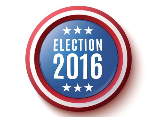 Presidential Election 2016 button.
