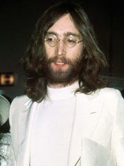 John Lennon is shown circa 1969 in a file photo.