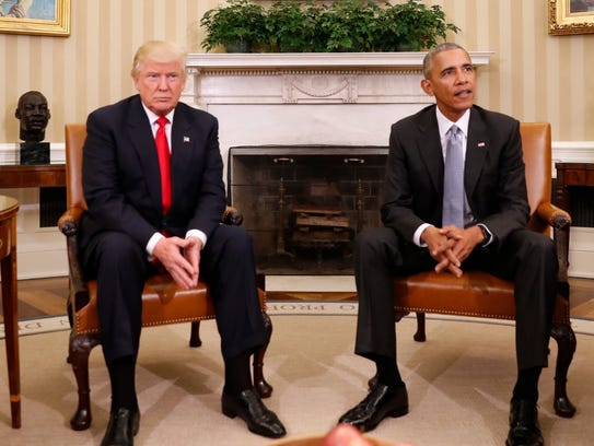 El candidato electo Donald Trump se reunió con el presidente