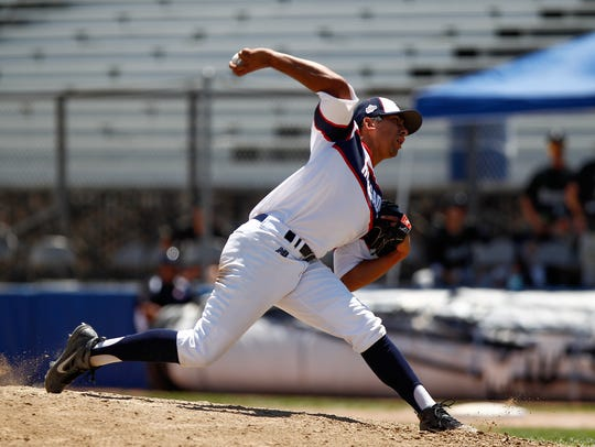 Southern California's Daniel Martinez pitches against