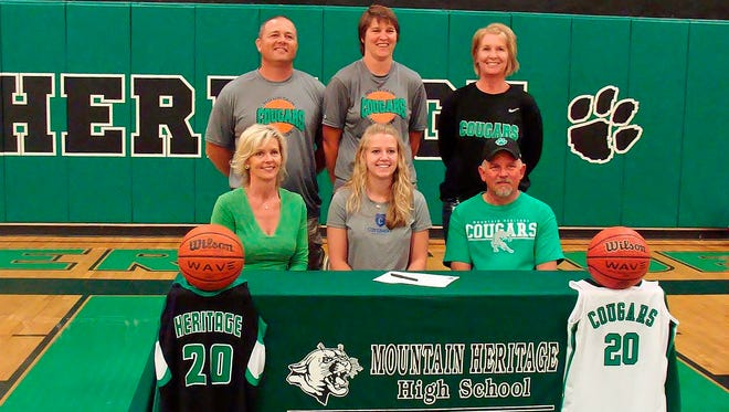 Mountain Heritage senior Abbey Bailey has signed to play college basketball for Covenant (Ga.).