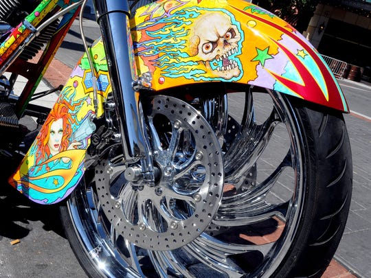 Custom motorcycles will be on display during Street Vibrations.