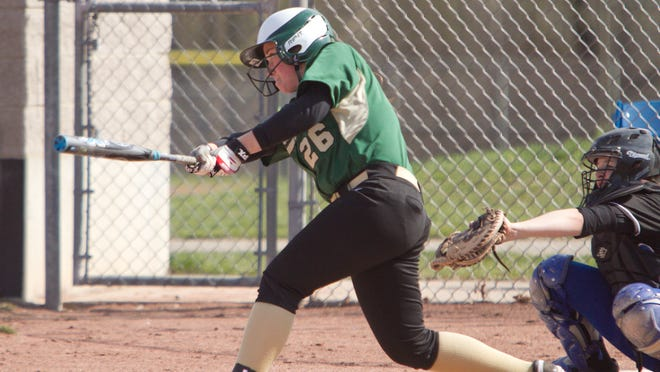 Elaina McClellan threw a three-inning no-hitter in the opener, then doubled and tripled in the nightcap as Howell swept Farmington Hills Harrison on Tuesday.