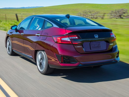 Honda's Clarity is a hydrogen fuel cell car, soon to