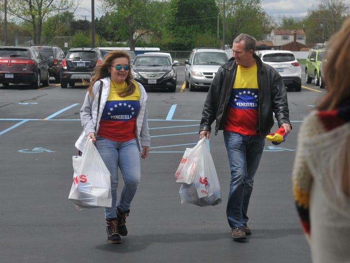 Kevin Gilligan and his wife Brenda bring supplies for