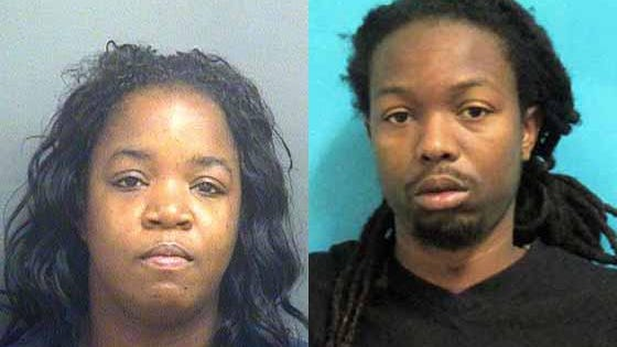 Diedre Dixon (left) and Shaquille Robinson have been charged in connection with what federal agents described as a $1 million bank fraud scheme.