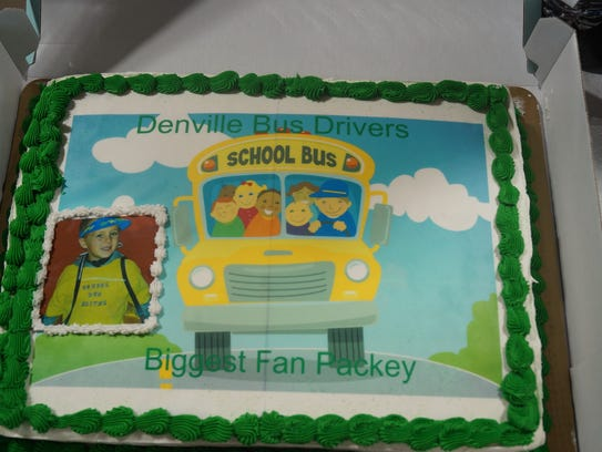 Cake from the transportation staff for Packey